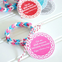 Loom Band Printable Valentine\'s Tags
