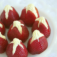 Vanilla Almond Cream Filled Strawberries