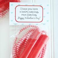 Jump Rope Printable Valentine\'s