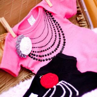 Valentines Day Faux Pearl Baby Onesie + Tutorial