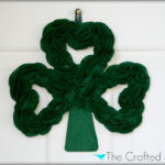 St. Patty's Day Felt Clover Wreath
