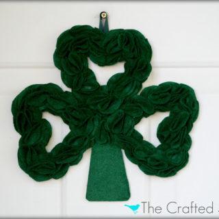 St. Patty's Day Felt Clover Wreath