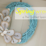 Spring Wreath {Grapevine & Burlap}
