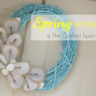 Spring Wreath {Grapevine & Burlap}