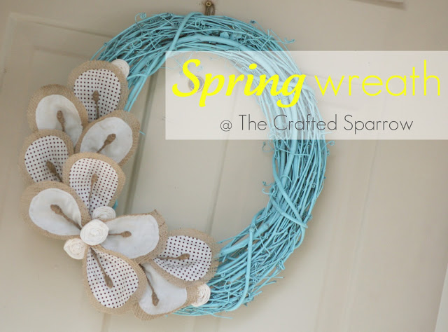Grapevine & Burlap Spring Wreath