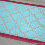 Quatrefoil Stenciled Door Mat