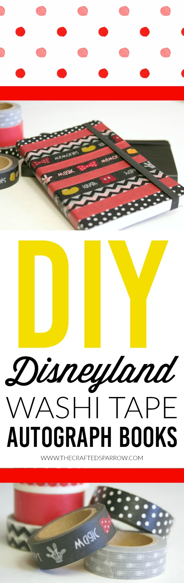 DIY Disneyland Washi Tape Autograph Books