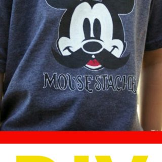 Making Disney Memories – Part 2 {Freezer Paper Stenciled Mickey Shirts}