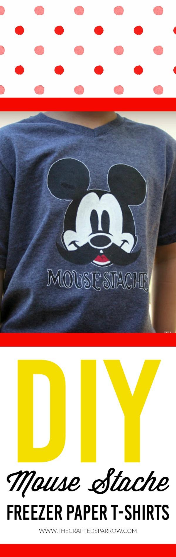 DIY Mouse Stache Freezer Paper T-Shirt