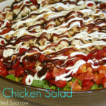 BBQ Chicken Salad {CPK Recipe Knock Off}