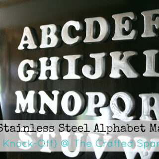 Faux Stainless Steel Alphabet Magnets {Pottery Barn Knock-Off}