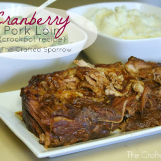 Cranberry Pork Loin {Crockpot Recipe}