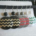 DIY Chevron Earrings