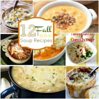 12 – Warm & Tasty Fall Soup Recipes