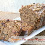 Pumpkin Cranberry Walnut Loaf