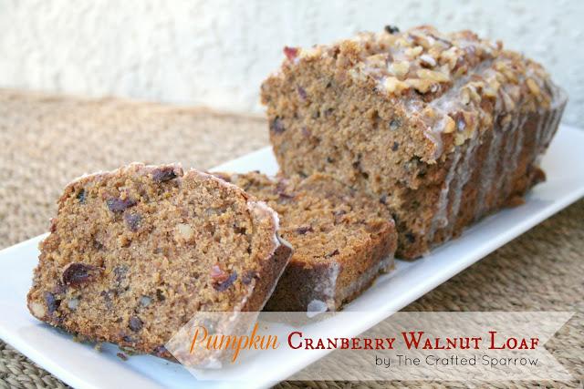 Pumpkin Cranberry Walnut Loaf