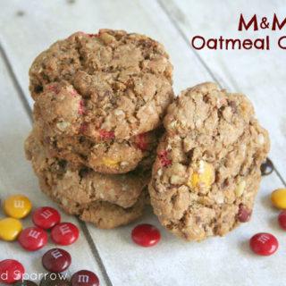 M & M Oatmeal Cookies