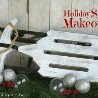 Holiday Sled Makeover { A Thrifty Find }