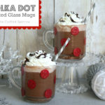 Polka Dot Painted Glass Christmas Mugs