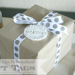 Polymer Clay Personalized Gift Tags & Simple Gift Wrap
