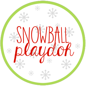 Snowball Playdoh Printable
