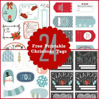 24 Christmas Tags & Games {Free Printables}