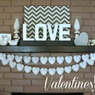 Valentines Day Mantle