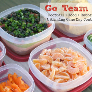 Football + Food + Rubbermaid = A Winning Game Day Combination