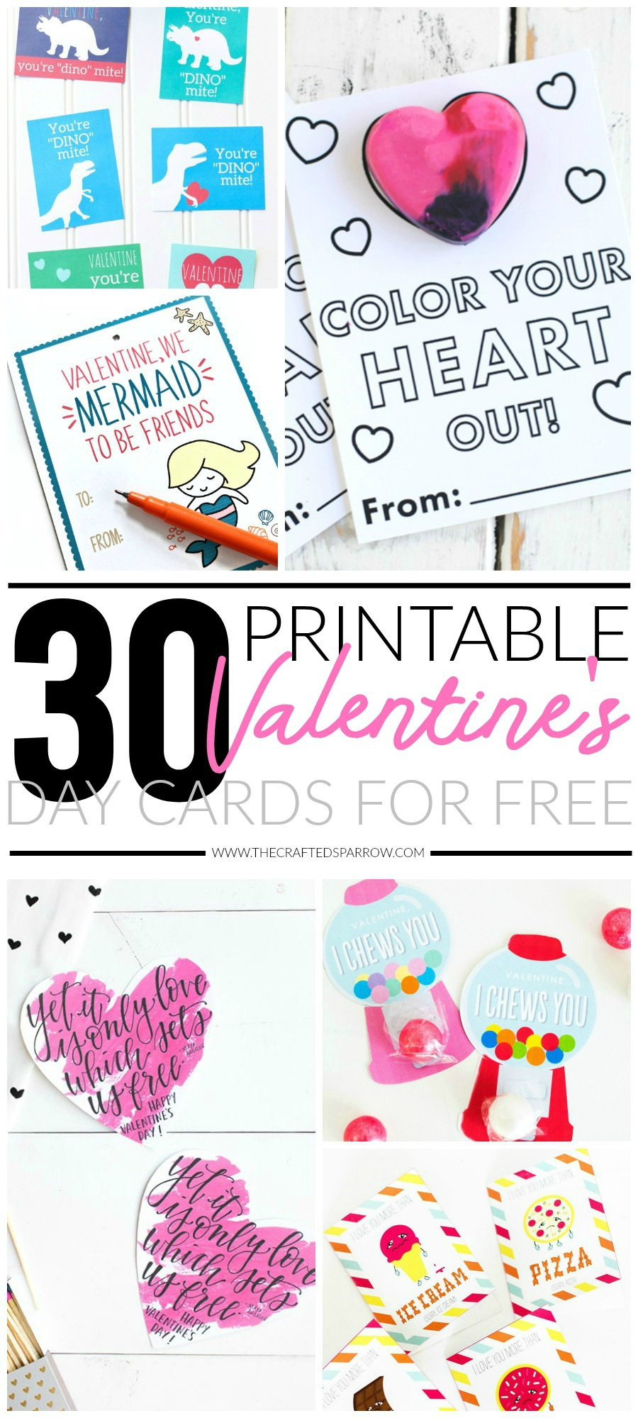 graphic regarding Printable Valentine titled 30 Valentines Working day Printable Playing cards