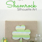 Washi Tape Shamrock Silhouette Art