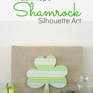 Washi Tape Shamrock Silhouette Art