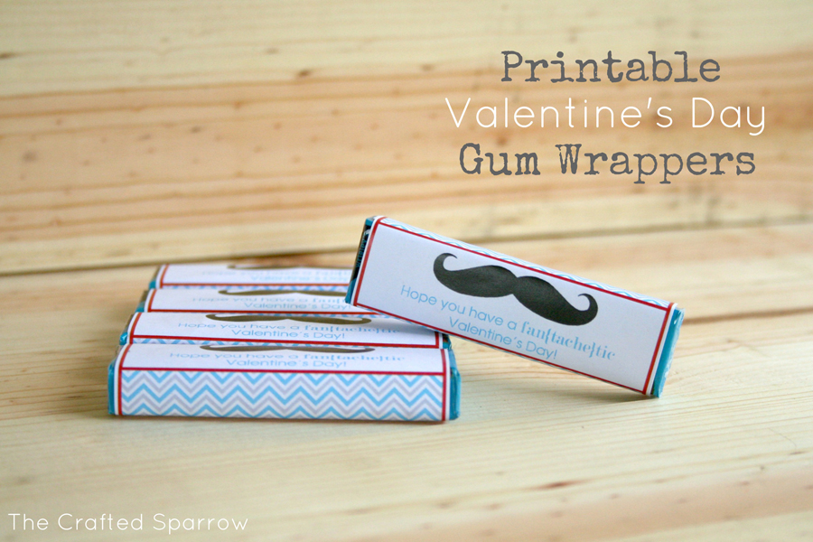 Printable Valentine's Day Gum Wrappers