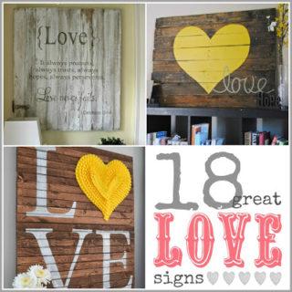 18 Great DIY Love Signs