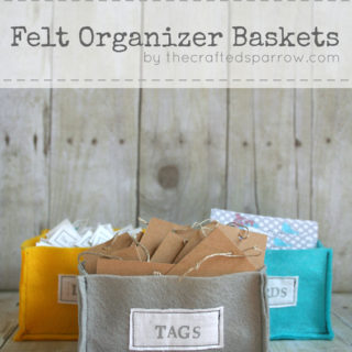 DIY Felt Organizer Baskets