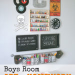 Boys Room Art & Homework Station