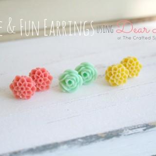 Simple & Fun Earrings using Dear Lizzy Products