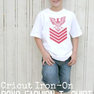 Cricut Iron-on Boys Fashion T-Shirt