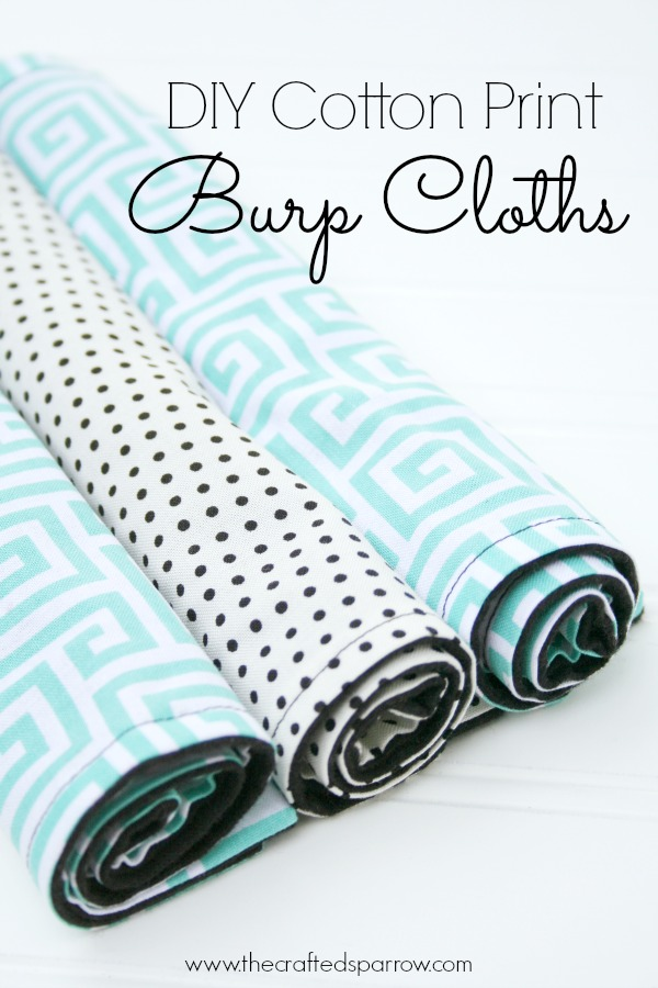 DIY Cotton Print Burp Cloths