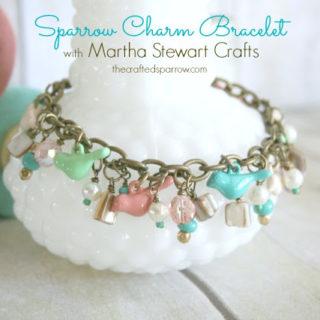 Sparrow Charm Bracelet with Martha Stewart Crafts