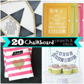 20 Chalkboard Projects & Printables {Plus a Cricut Everyday Chalkboard Fonts Cartridge Giveaway}