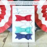 Patriotic Felt Bows