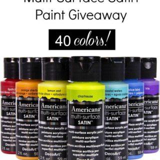 DecoArt {NEW} Americana Multi-Surface Paint Giveaway