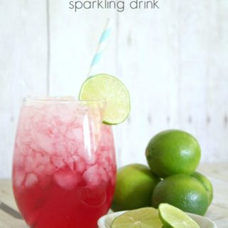 Cranberry Coconut Lime Sparkling Drink {made with Arrowhead Sparkling Water}