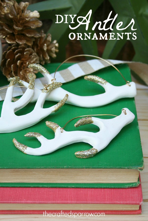 DIY Antler Ornaments