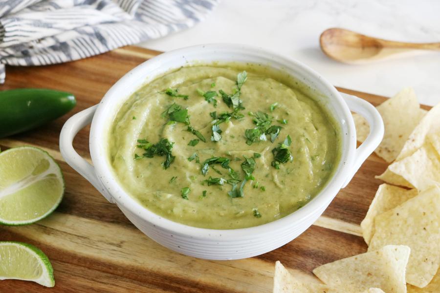 Best Ever Roasted Tomatillo & Avocado Salsa Verde