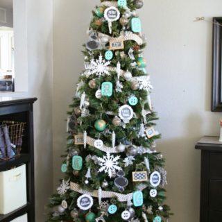 Chalkboard Inspired Christmas Tree