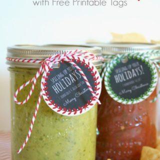 Homemade Salsa Gifts & Free Printable Tags