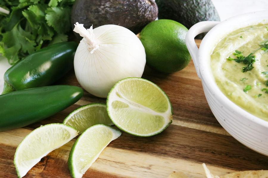 Roasted Tomatillo & Avocado Salsa Verde