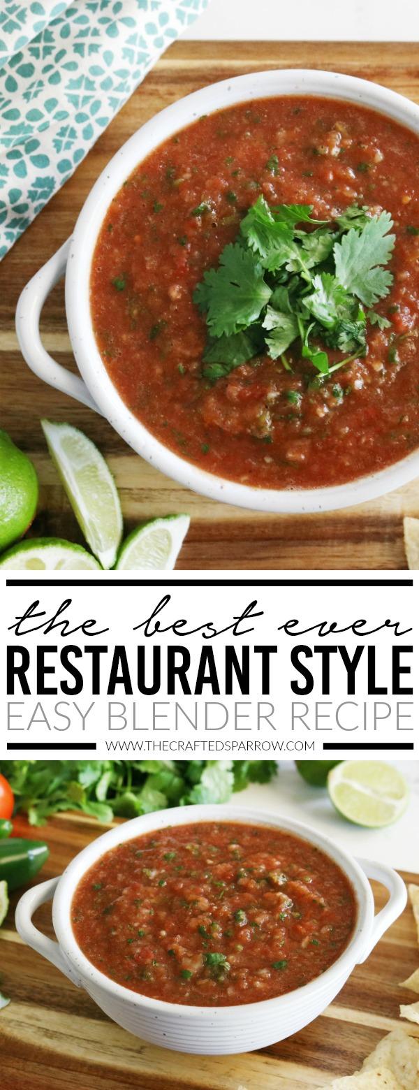 The Best Ever Restaurant Style Easy Blender Salsa Recipe