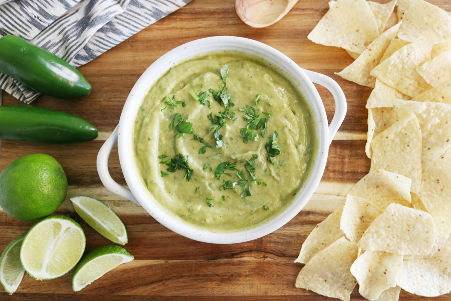 The Best Roasted Tomatillo & Avocado Salsa Verde